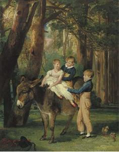 James Ward - Group Portrait of John, Theophilus and Frances Levett