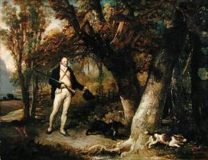 James Ward - Portrait of the Rev. Thomas Levett and Favourite Dogs, Cock-Shooting