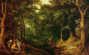Jan Brueghel The Elder - Ambush in the Woods