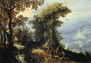 Jan Brueghel The Elder - Landscape with Hunters