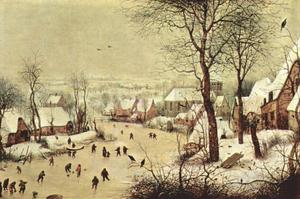 Jan Brueghel The Elder - Landscape with Skaters and Bird Trap
