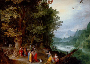 Jan Brueghel The Elder - Saint John Preaching In The Wilderness