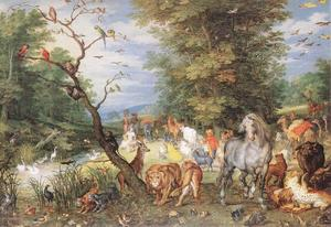 Jan Brueghel The Elder - The Animals Entering the Ark