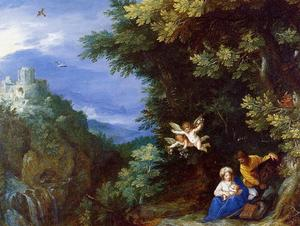 Jan Brueghel The Elder - The Rest on the Flight to Egypt 1