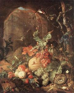 Jan Davidsz De Heem - Still-Life with Bird-nest