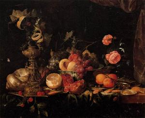 Jan Davidsz De Heem - Still-Life with Flowers and Fruit