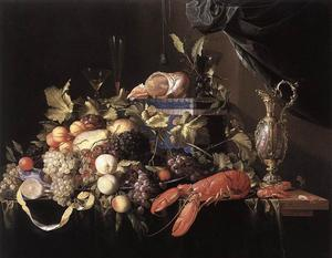 Jan Davidsz De Heem - Still-Life with Fruit and Lobster