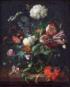 Jan Davidsz De Heem - Vase of Flowers