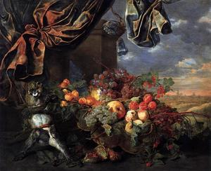 Jan Fyt (Joannes Fijt) - Still-Life with Fruit and Monkey