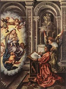 Jan Gossaert (Mabuse) - St Luke Painting the Madonna