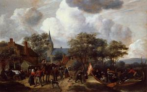 Jan Steen - Village Festival with the Ship of Saint Rijn Uijt
