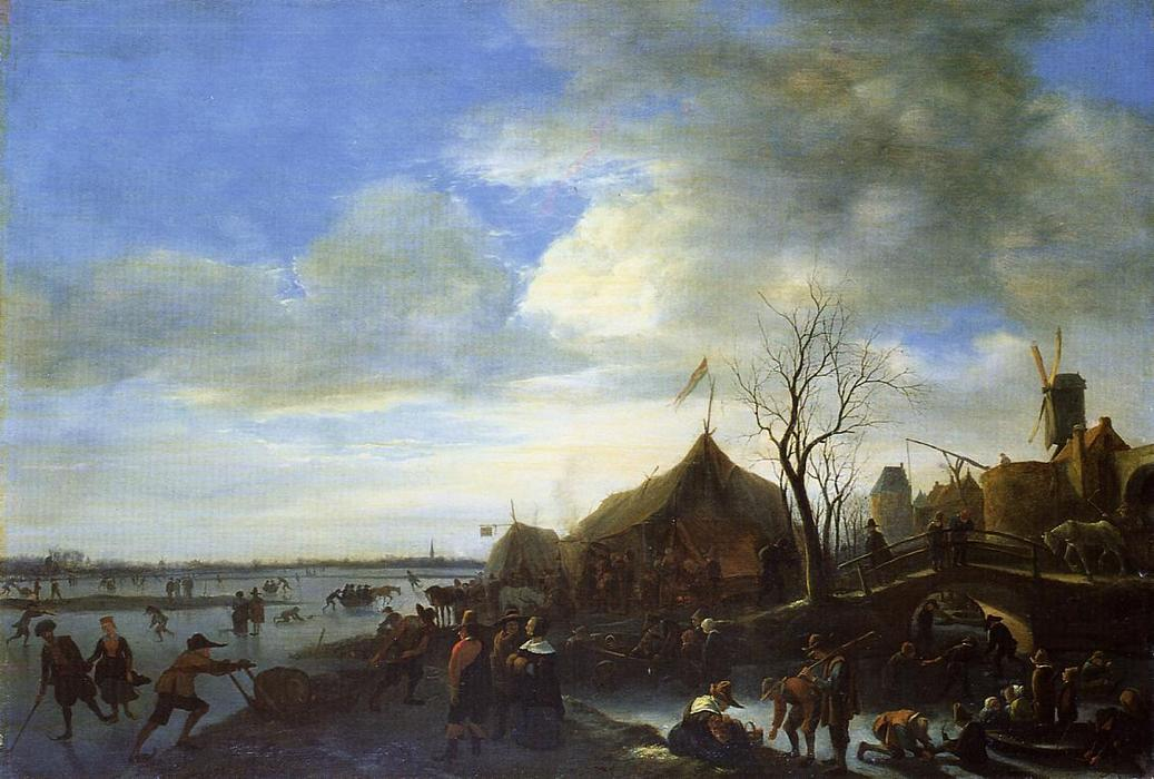 Winter Landscape, 1650 by Jan Steen (1626-1679, Netherlands) | Art Reproductions Jan Steen | WahooArt.com