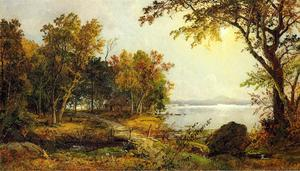 Jasper Francis Cropsey - A Cabin on Greenwood Lake