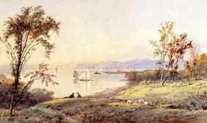 Jasper Francis Cropsey - Along the Hudson