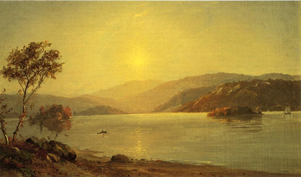 Autumn by the Lake 1 by Jasper Francis Cropsey (1823-1900, United States)