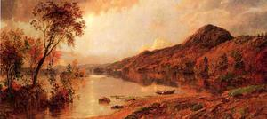 Jasper Francis Cropsey - Autumn by the Lake