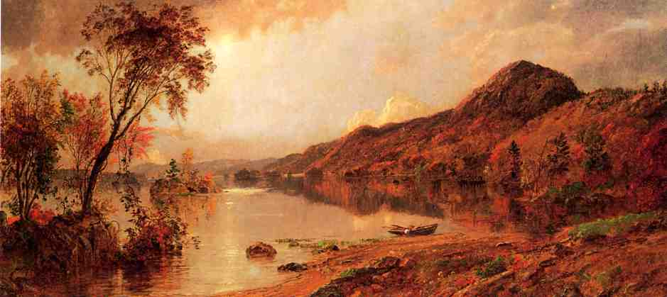 Autumn by the Lake by Jasper Francis Cropsey (1823-1900, United States) | WahooArt.com