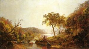 Jasper Francis Cropsey - Autumn on Ramapo River, New Jersey