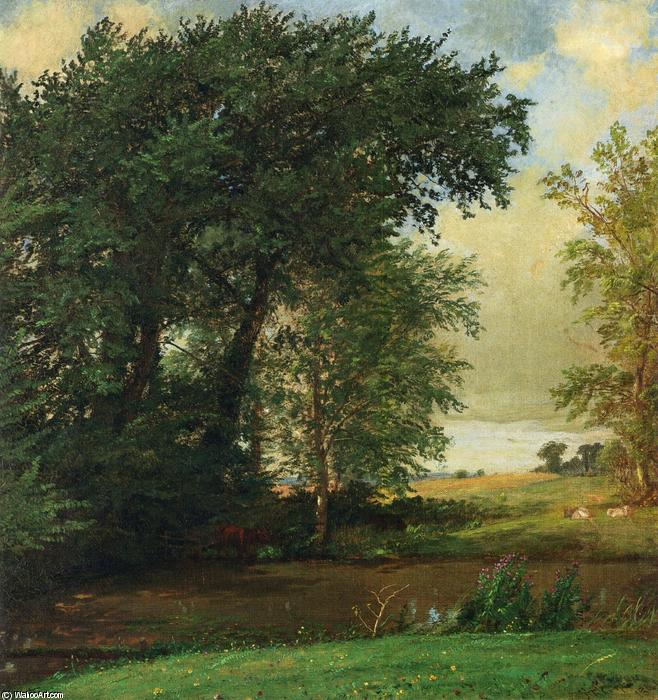 Banks of the River by Jasper Francis Cropsey (1823-1900, United States)