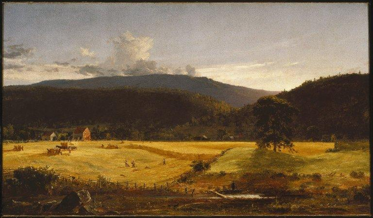 Bareford Mountains, West Milford, New Jersey by Jasper Francis Cropsey (1823-1900, United States)