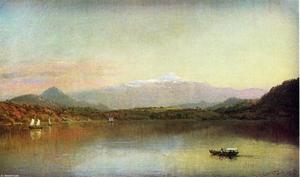 Jasper Francis Cropsey - Boaters on a Lake