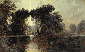 Jasper Francis Cropsey - Bridge on the Wawayanda River