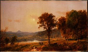 Jasper Francis Cropsey - Brimstone and Sugar Loaf Mountains from Warwick