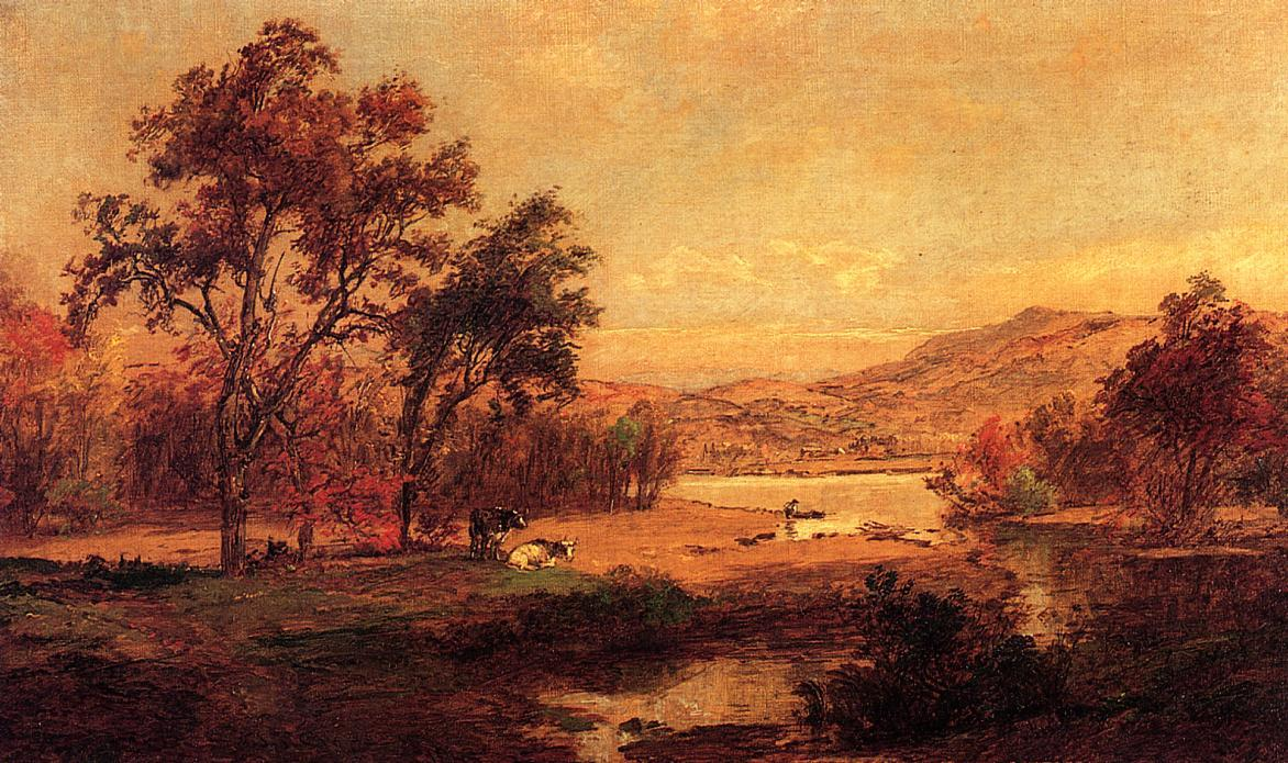 By the Lake by Jasper Francis Cropsey (1823-1900, United States) | Painting Copy | WahooArt.com
