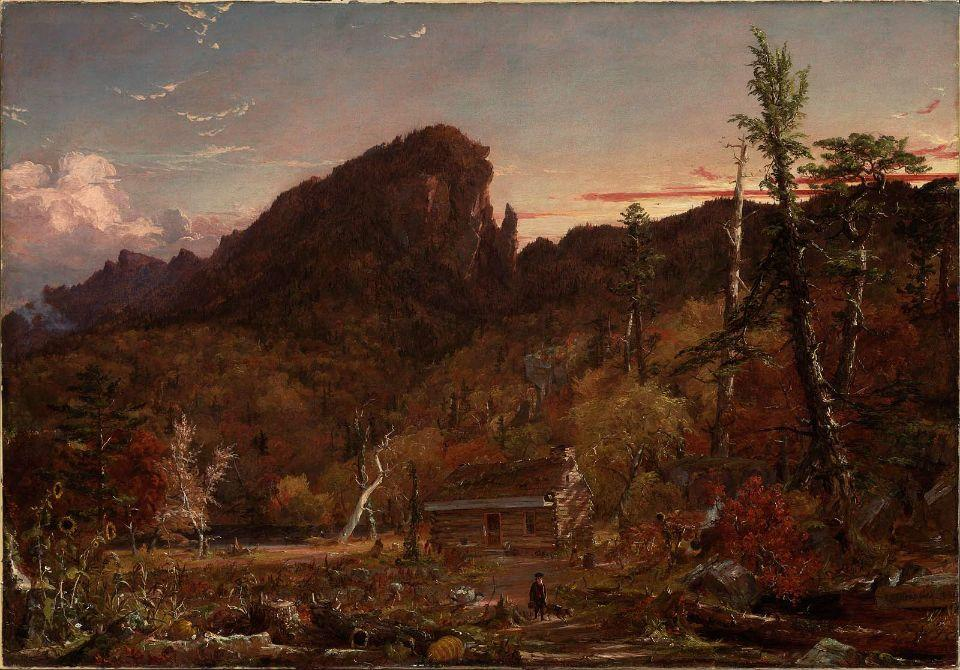 Eagle Cliff, New Hampshire by Jasper Francis Cropsey (1823-1900, United States) | WahooArt.com