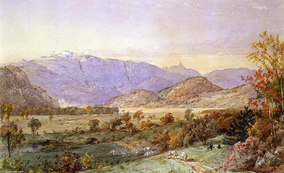 Early Snow on Mount Washington by Jasper Francis Cropsey (1823-1900, United States) | WahooArt.com