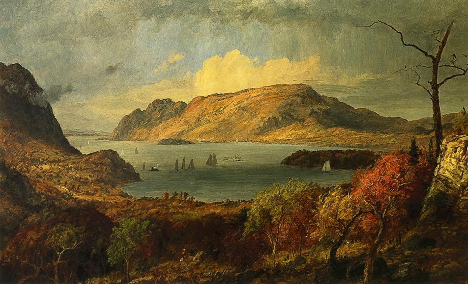 Gates of the Hudson, 1897 by Jasper Francis Cropsey (1823-1900, United States) | WahooArt.com