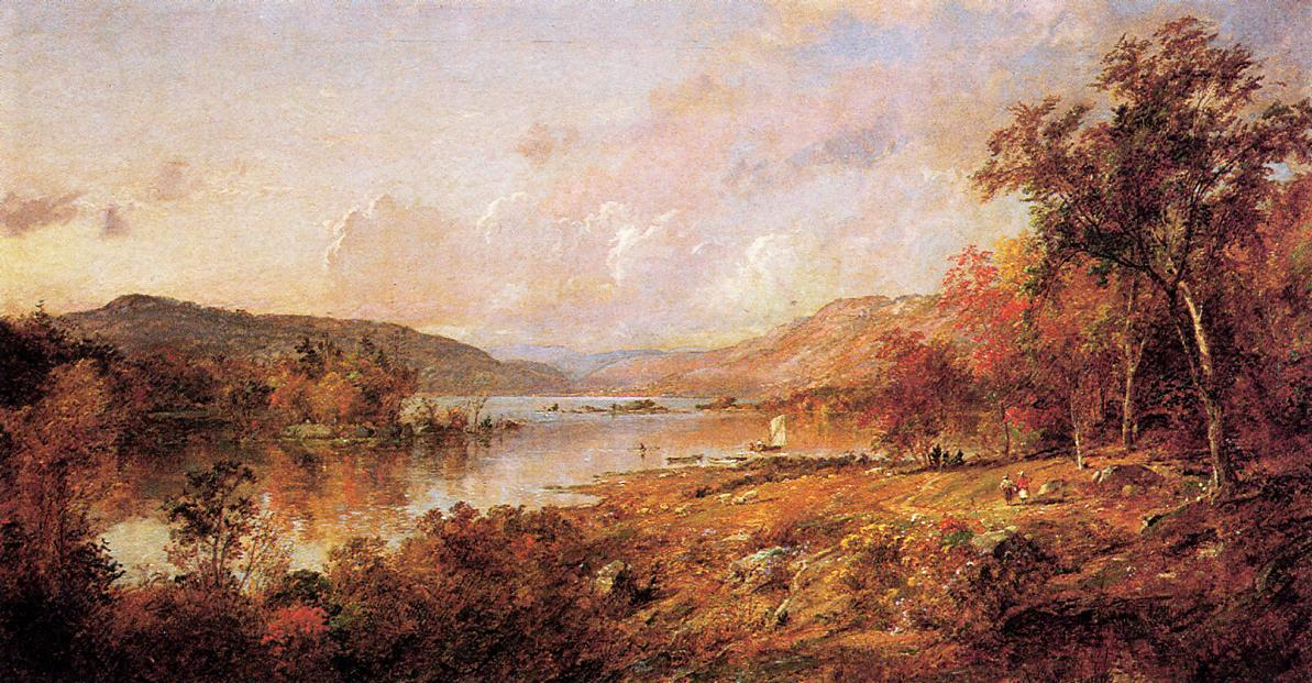 Greenwood Lake in September, Oil On Canvas by Jasper Francis Cropsey (1823-1900, United States)