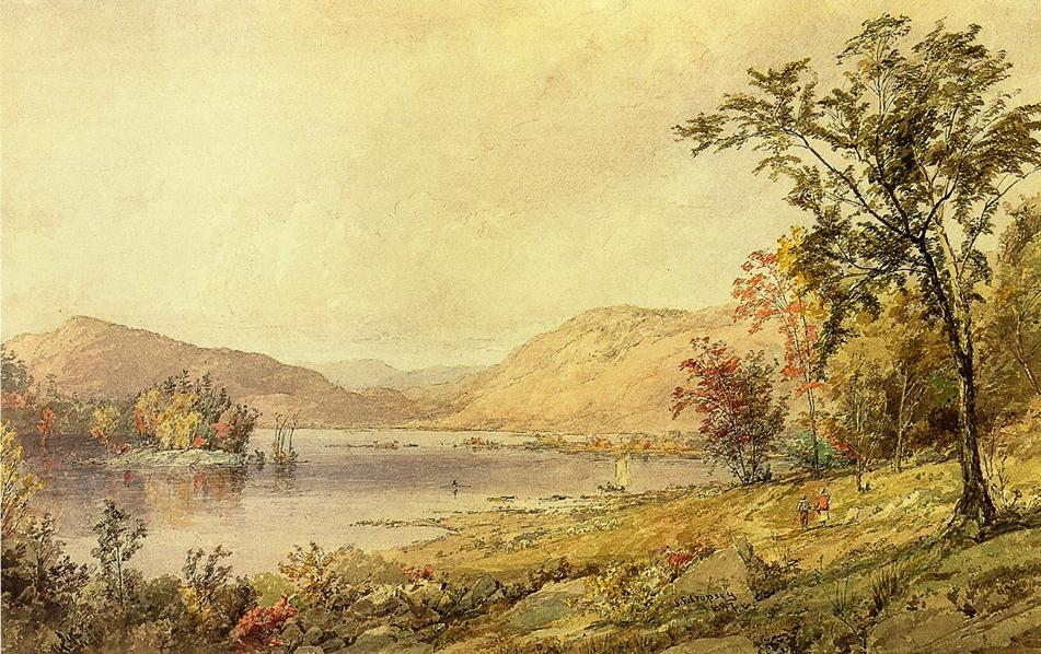 Greenwood Lake, New Jersey by Jasper Francis Cropsey (1823-1900, United States) | WahooArt.com