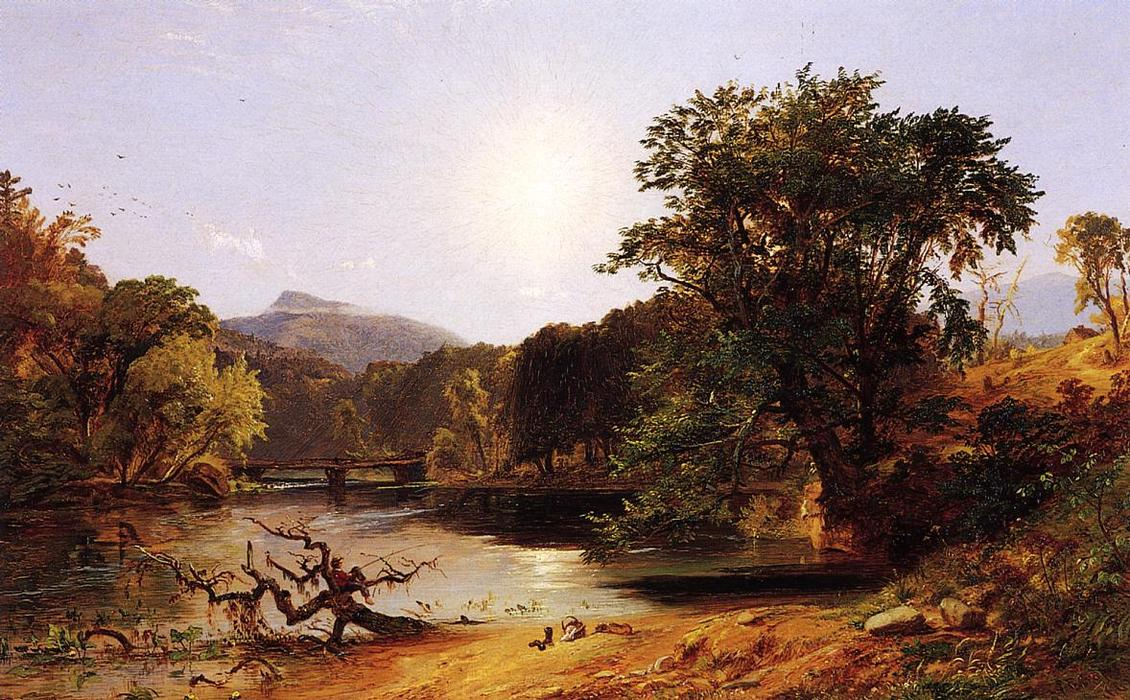 In the White Mountains, Oil On Canvas by Jasper Francis Cropsey (1823-1900, United States)