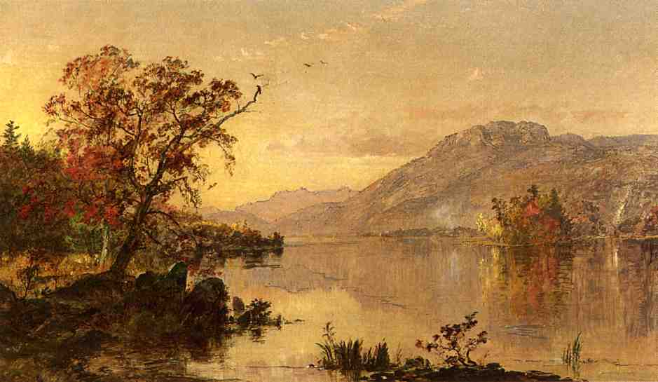Lake George, New York, Oil On Canvas by Jasper Francis Cropsey (1823-1900, United States)
