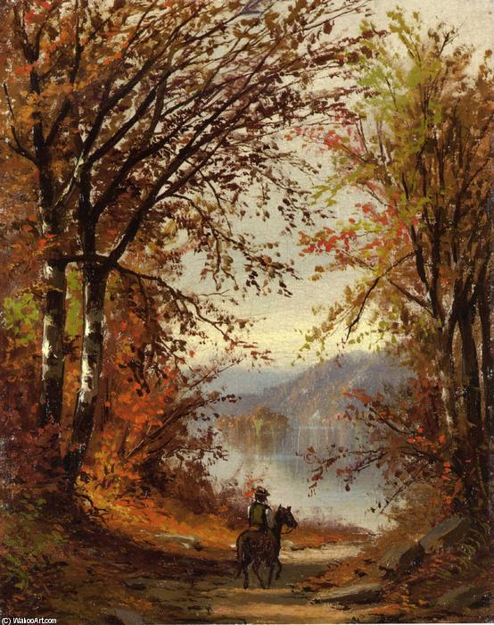 Landscape by Jasper Francis Cropsey (1823-1900, United States) | Famous Paintings Reproductions | WahooArt.com