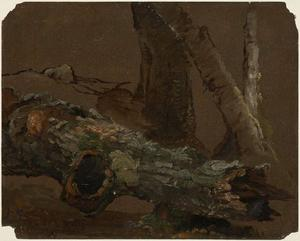 Order Painting Copy : Log and Lower Parts of Tree Trunks by Jasper Francis Cropsey (1823-1900, United States) | WahooArt.com