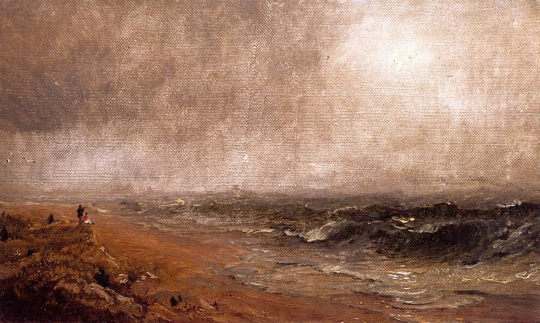 Looking out to Sea, Oil On Canvas by Jasper Francis Cropsey (1823-1900, United States)