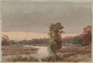Jasper Francis Cropsey - Marshy Land at Twilight