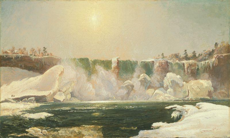 Niagara Falls in Winter by Jasper Francis Cropsey (1823-1900, United States)