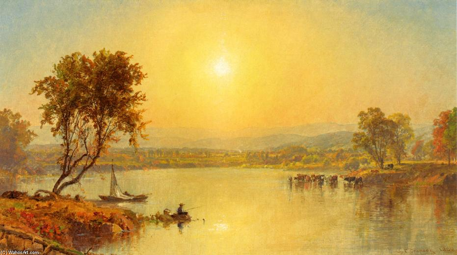 On the Susquahana River, Oil On Canvas by Jasper Francis Cropsey (1823-1900, United States)