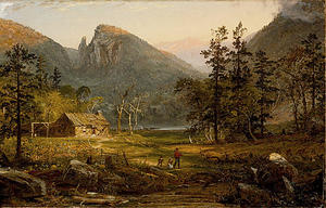 Jasper Francis Cropsey - Pioneer-s Home, Eagle Cliff, White Mountains