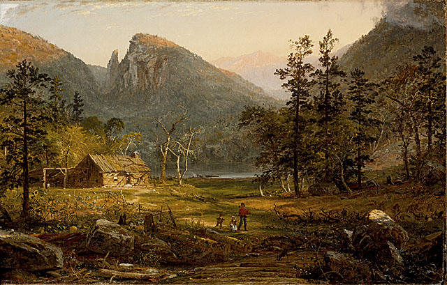Pioneer`s Home, Eagle Cliff, White Mountains by Jasper Francis Cropsey (1823-1900, United States) | Painting Copy | WahooArt.com