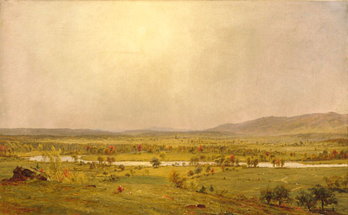 Pompton Plains, New Jersey by Jasper Francis Cropsey (1823-1900, United States)