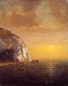 Jasper Francis Cropsey - Rowing at Sunset