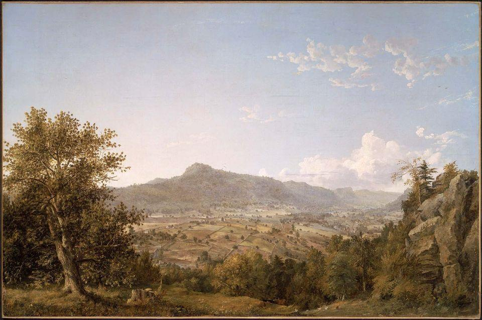 Schatacook Mountain, Housatonic Valley, Connecticut by Jasper Francis Cropsey (1823-1900, United States) | WahooArt.com