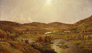 Jasper Francis Cropsey - Sidney Plains with the Union of the Susquehanna and Unadilla Rivers
