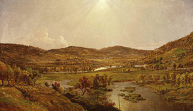 Sidney Plains with the Union of the Susquehanna and Unadilla Rivers by Jasper Francis Cropsey (1823-1900, United States)