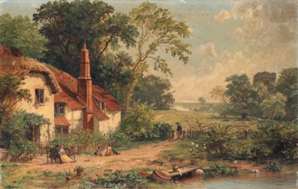 Spring in England by Jasper Francis Cropsey (1823-1900, United States) | WahooArt.com