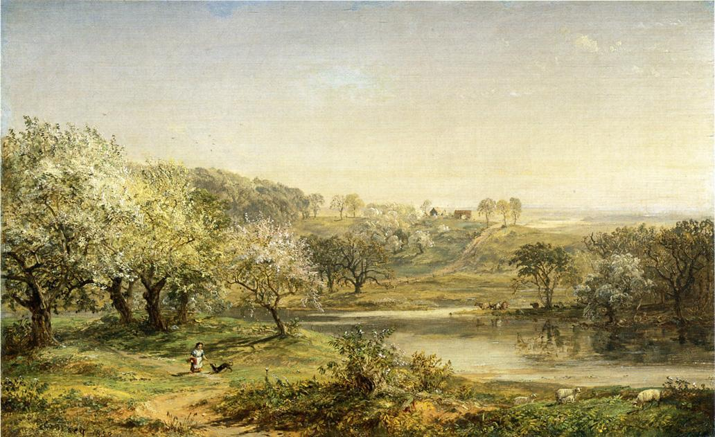 Spring, Chenango Valley, Oil On Canvas by Jasper Francis Cropsey (1823-1900, United States)
